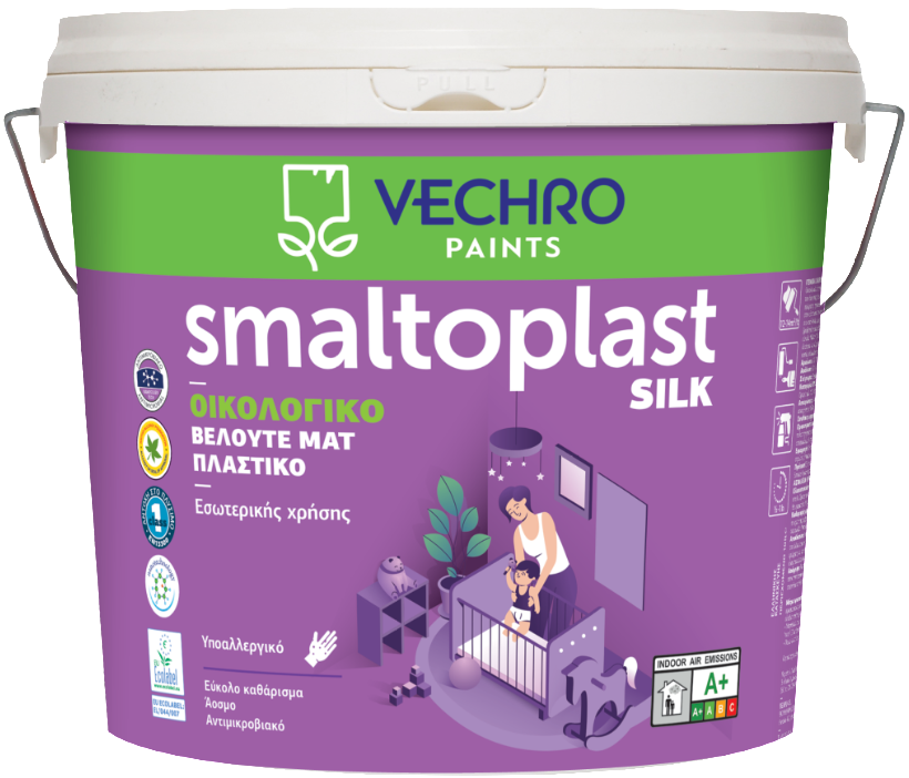 Пластична боя SMALTOPLAST extra Silk eco
